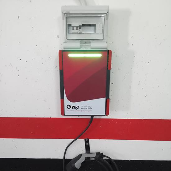 Instalación Punto de Recarga EDP en garaje comunitario